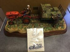 """BORDER FINE ARTS """"CUT AND CRATED"""" ( Allis Chalmers Tractor) B0649 RAY AYRES"""