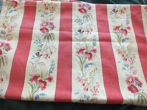 Vintage Laura Ashley Fabric  - Ottoline Raspberry 3m 40cm x 140cm