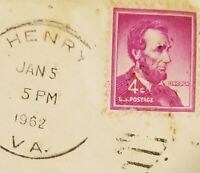 RARE Vintage U.S.A. Abraham Lincoln Purple 4 Cent Stamp 1962
