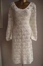 BEAUTFUL MONSOON CROCHET BOHO COUTURE HOLIDAY BEACH WEDDING DRESS IVORY 22