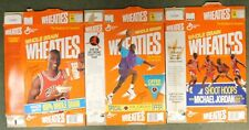 Michael Jordan (Chicago Bulls) Vintage 1990's Wheaties Empty Cereal Box Lot Of 3