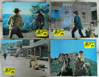 4 Aushangfotos Todfeinde - Five Card Stud - Dean Martin Robert Mitchum 1968