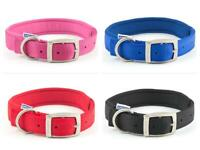 Ancol Padded Neoprene Strong Nylon Dog Collar  - Pink Blue Red Black