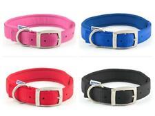 Ancol Padded Neoprene Strong Nylon Dog Collar  - Pink Blue Red Black