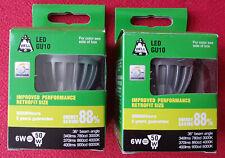 2x Bell LED GU10 dimmable retrofit 6w 6000k daylight long life bulb