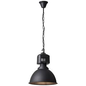 Hänge Decken Leuchte Pendel Lampe Industrie Design Fabrik Loft BLAKE schwarz NEU