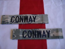 ABU Name Tape CONWAY  New Set of 2 USA Made Air Force Hook Backing 1 X 5