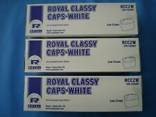 3 Pack of 100 ,Royal Plain White Classy Chef's Hats/Caps , Rcc2W