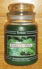 Yankee Candle - 22 oz - WOODLAND SPRING - Black Band - RARE AND HARD TO FIND!!!