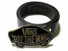 VANS Buckle leather belt Skateboard Skater SK8 BMX Black