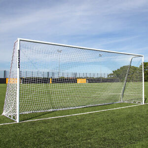 QUICKPLAY Pro Alu Football Goal with Freestanding Capability, 16 x 7ft