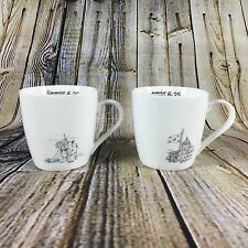 "Korean War Remember 6.25 Set Of (2) 3.5"" Tall Ceramic Coffee Mugs"