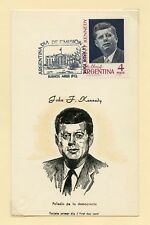 ARGENTINA JOHN F. KENNEDY MEMORIAL STAMP. FDC & MAXIMUM CARD FIRST DAY CANCELED