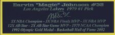 Magic Johnson Autograph Nameplate Los Angeles Lakers Basketball Jersey Photo