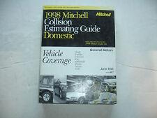 1998 Mitchell GM General Motors Collision Estimating Manual Guide Corvette OEM