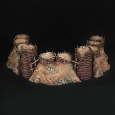 Tin soldier, Large set of artillery fortifications, (5 parts) 54 mm