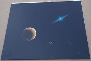 Morris Scott Dollens Original Painting Jupiter and Inner Moons Sci-Fi Space Art