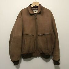 Vintage Banana Republic Safari leather bomber jacket 42 brown