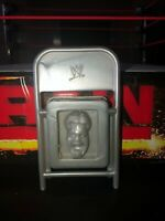 WWE WWF Wrestling Jakks Action Figure Accessory Chair Grey FACE IMPRINT