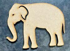 Wooden Laser Cut Elephant Embellishment 3mm MDF 6 Pack Crafts Scrapbook