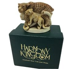 Harmony Kingdom Sleepy Hollow Leopard Family Figurine Ring Chest England w/ Box