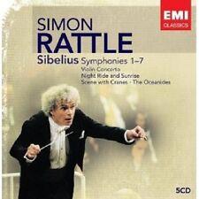 """SIMON RATTLE """"SIBELIUS : SÄMTLICHE SINFONIEN"""" 5 CD NEU"""