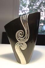 formano Búcaro 30cm Negro - Plata de cerámica de alta calidad NUEVO