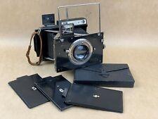 Plaubel Makina II Vintage Black medium format camera w/ backs & Film Holders !