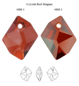 Genuine SWAROVSKI 6680 Cosmic Crystals Pendants * Many Sizes & Colors
