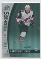 17/18 SP GAME-USED SILVER RAINBOW ROOKIE RC #180 CHRISTIAN FISCHER 74/220 *51482
