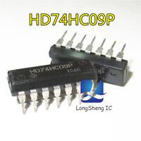 10PCS HD74HC09P DIP14 new spot four 2 input and door
