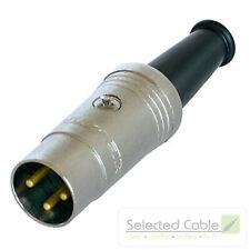 REAN 3pol DIN Kabel Stecker Rundstecker vergoldete Kontakte by Neutrik | NYS321G
