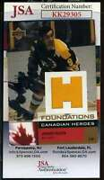 Johnny Bucyk JSA Coa Hand Signed 2002 Upper Deck Game Jersey Autograph