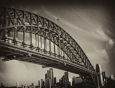 poster print sydney bridge photo vintage nsw  photo  Australia Fits A0  Frame
