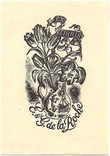 NELLY DEGOUY: Exlibris für E. + G. de la Roche
