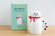 "So Cute! Cat Shaped Teapot! Lisa Larson Pottery ""FIA"" JAPAN F/S w/tracking"