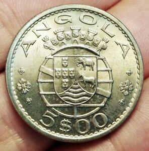 Portuguese Angola 5 escudos 1972 coin (UNC! Superb!)