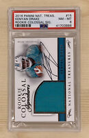 2016 National Treasures Rookie Colossal PATCH Auto 82/99 Kenyan Drake SP PSA 8