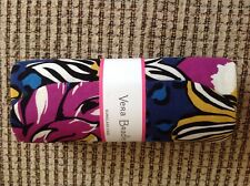 Vera Bradley Reading Glasses Or Eyeglasses Case Oval African Violet Cloth New