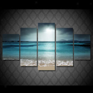 Set Of 5 Home Flower Modern Canvas Painting Wall Art Home Picture Print Decor