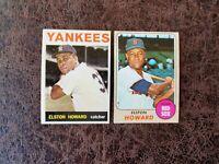 1964-68 TOPPS Baseball Elston Howard 2-card lot - New York Yankees Legend