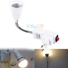 E27 Bulbe Lampe Douille Flexible Extension Adaptateur Prise Fiche + Interrupteur