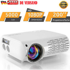 Crenova LED Beamer FULL HD 1080P TV Video Beamer HDMI USB 5000lumen Projektor 3D