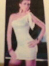 Sexy Blanco Mini Vestido Club vuelta Pole Dance Party Wear
