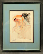 Unauthenticated Signed Salvador Dalí Silkscreen Print with Watercolor of a Woman