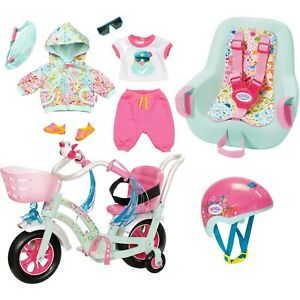 Zapf Creation BABY born Bike AUSWAHL Fahrrad Rad Outfit Helm