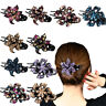 Large Alligator Clips Crystal Rhinestone Flower Hair Claw Clamp Hairpin Women ty