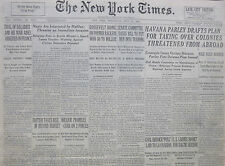 7-1940 WWII July 24 HAVANA PARLEY DRAFT PLAN FOR TAKING COLONIES THREATEN ABROAD