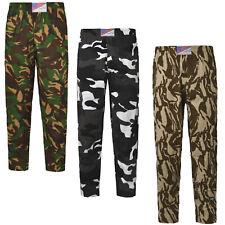 Unisex Cotton Baggy Elasticated Camouflage Jogging Pants Gym Trousers Open Leg