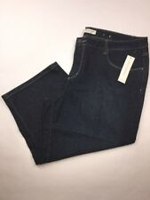 Coldwater Creek Womens Jeans Natural Denim Crop Size 18 Fit Dark
